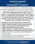 Salesman - Murdock Trailers